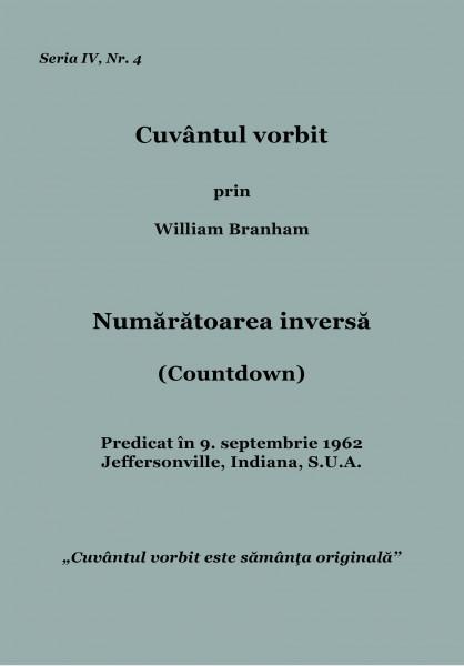 Evanghelia.ro - William Branham - Numaratoarea inversa