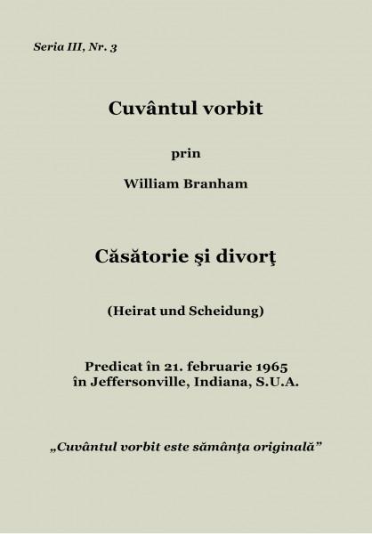 Evanghelia.ro - William Branham - Căsătorie şi divorţ