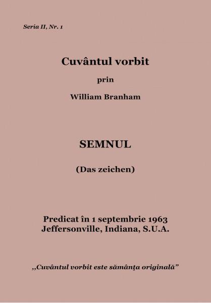 Evanghelia.ro - William Branham - Semnul
