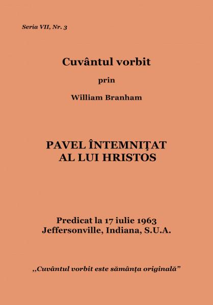 Evanghelia.ro - William Branham - Pavel un intemnitat al lui Hristos