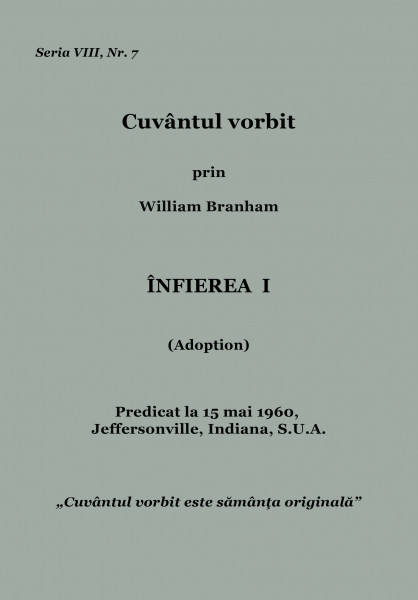 Evanghelia.ro - William Branham - Infierea 1