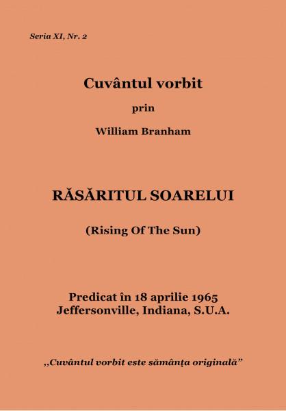 Evanghelia.ro - William Branham - RĂSĂRITUL SOARELUI
