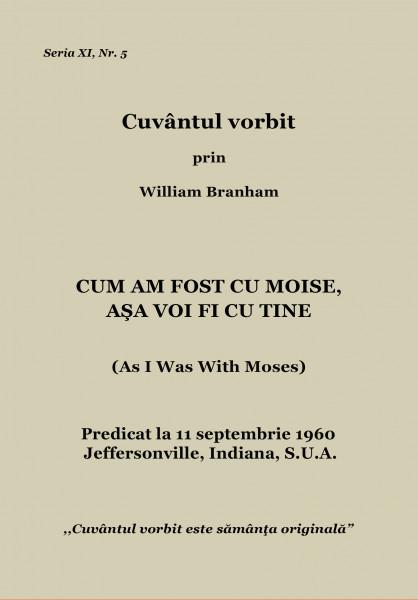 Evanghelia.ro - William Branham - CUM AM FOST CU MOISE, AŞA VOI FI CU TINE