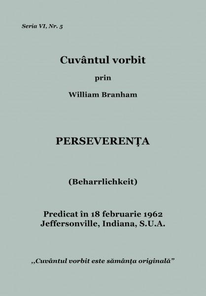 Evanghelia.ro - William Branham - Perseverenta