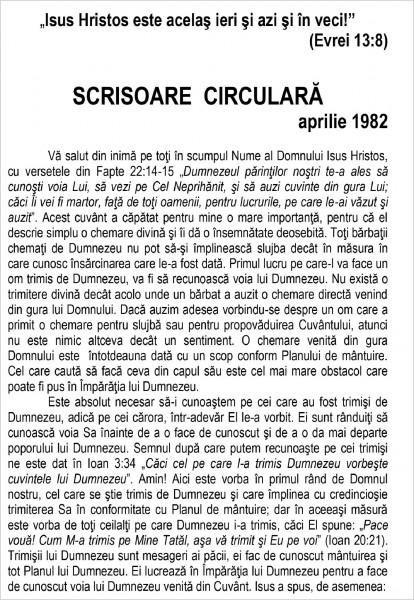 Ewald Frank - Scrisoare circulara - 1982 aprilie