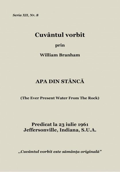 Evanghelia.ro - William Branham - Apa din stâncă