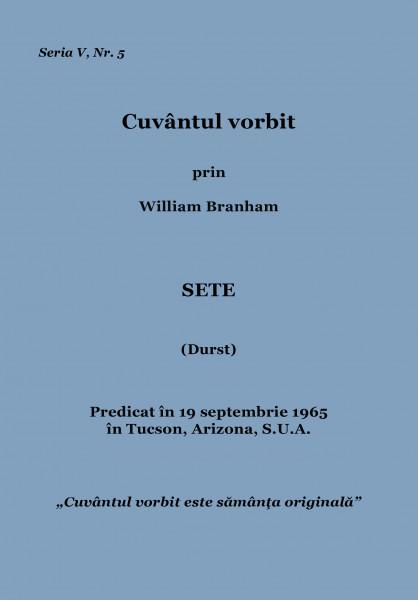 Evanghelia.ro - William Branham - Sete