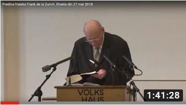 Predica de la Zurich din 24 aprilie 2016