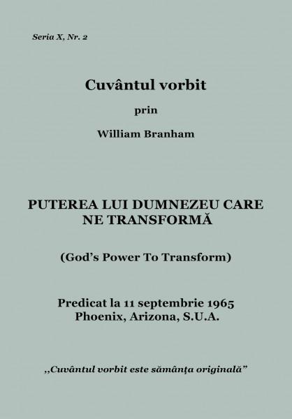 Evanghelia.ro - William Branham - PUTEREA LUI DUMNEZEU CARE NE TRANSFORMĂ