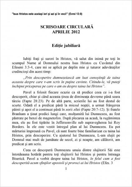 Scrisoare circulara 2012 aprilie