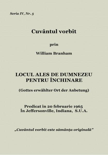 Evanghelia.ro - William Branham - Locul ales de Dumnezeu pentru inchinare