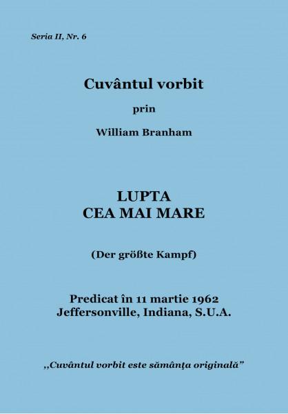 Evanghelia.ro - William Branham - Lupta cea mai mare