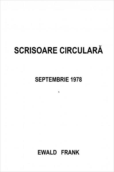 Scrisoare circulara - 1978 septembrie
