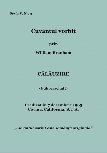 Evanghelia.ro - William Branham - Calauzire
