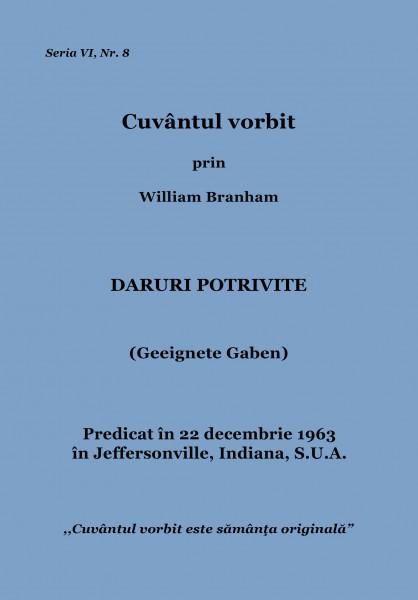 Evanghelia.ro - William Branham - Daruri potrivite