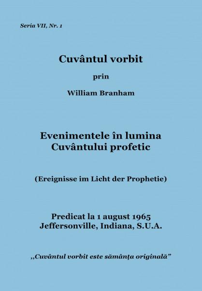 Evenimentele in lumina Cuvintului profetic