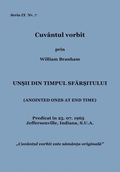 Evanghelia.ro - William Branham - Unşii din timpul sfârşitului