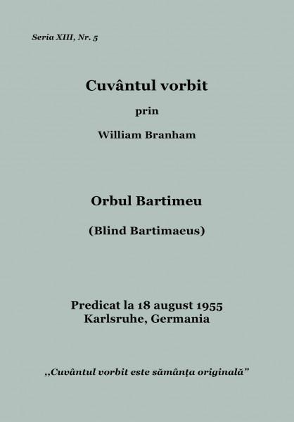 Orbul Bartimeu - seria 13 nr 5 - Karlsruhe - 18 august 1955 - WMB