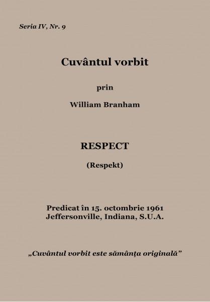 Evanghelia.ro - Wiliam Branham- Respect