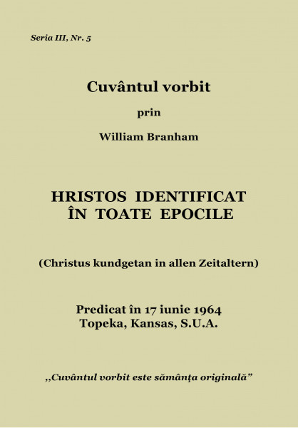 Hristos identificat in toate epocile