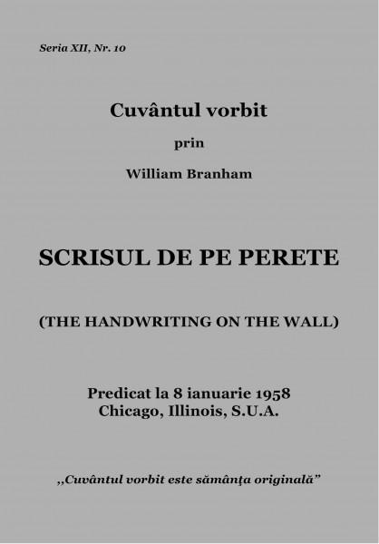 Evanghelia.ro - William Branham - SCRISUL DE PE PERETE