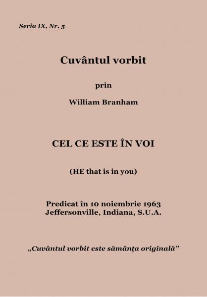 Evanghelia.ro - William Branham - Cel ce este în voi