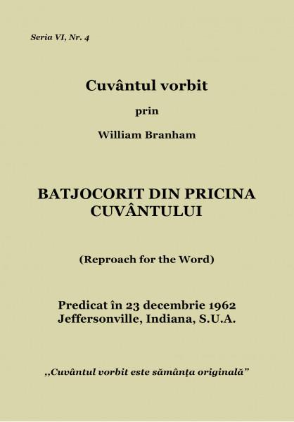 Evanghelia.ro - William Branham - Batjocorit din pricina Cuvantului