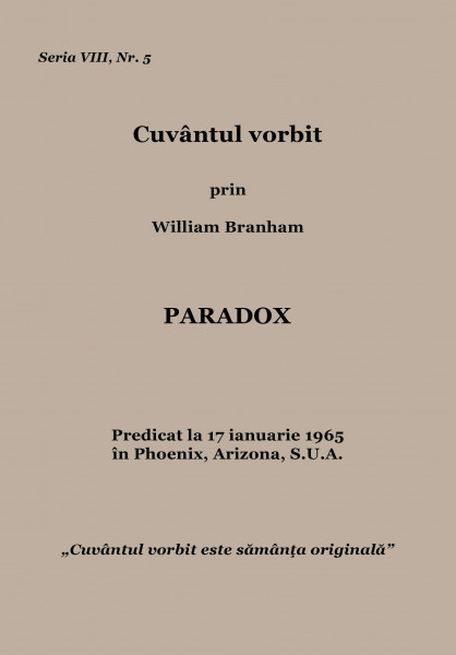 Evanghelia.ro - William Branham - Paradox