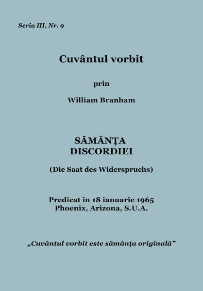 Evanghelia.ro - William Branham - Sămânţa discordiei