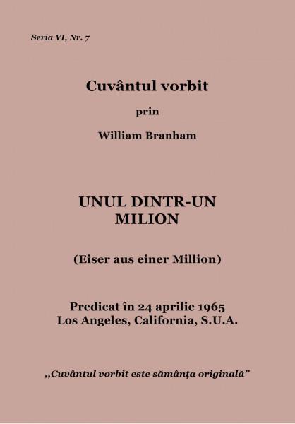 Evanghelia.ro - William Branham - Unul dintr-un milion