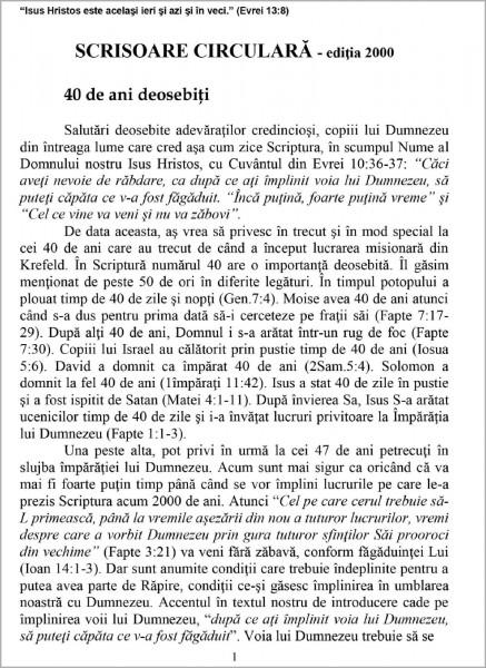 Ewald Frank - Scrisoare circulara - 2000 Editia