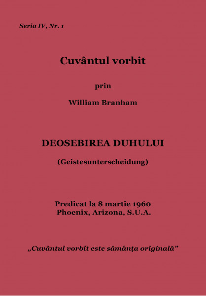 Evanghelia.ro - William Branham - Pentru ce strigi? Vorbeşte!