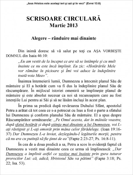 Scrisoare circulara 2013 martie
