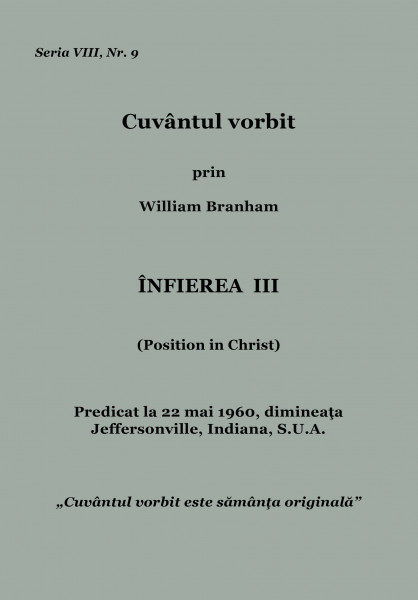 Evanghelia.ro - William Branham - Infierea 3