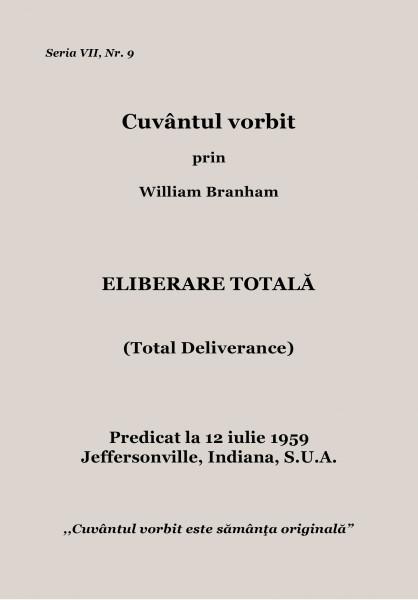 Evanghelia.ro - William Branham - Eliberare totala